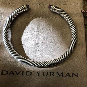 David Yurman 5mm with Amethyst and diamond